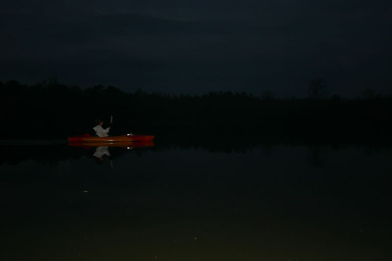early morning kayaking